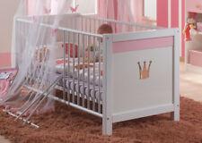 WIMEX Kinder bett Babybett Gitterbett Cindy 70x140cm weiß / rosa 2363