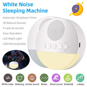 White Noise Sound Machine Sleep Therapy Relaxation for Adults Baby Nature Sounds