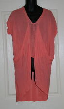 Womens size L (18) coral long draped top made by VERY J