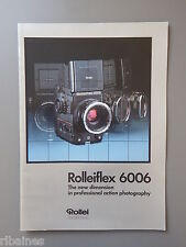 R&L Sales Promo Brochure for Rollie Rolliflex 6006