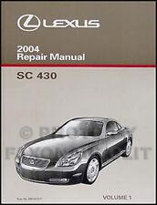2004 Lexus SC 430 Shop Manual Volume 1 SC430 NEW Original Repair Service Book