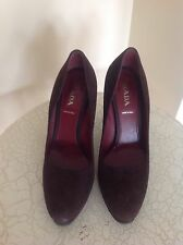 PRADA Womens Brown Suede Shoes Size 38
