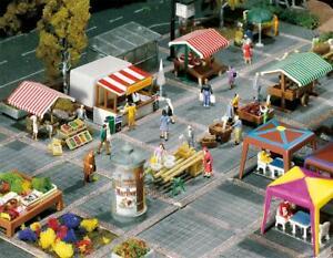 272533 Faller 1:160 N, Wochenmarkt Modelleisenbahn, Gebäude, im Kleinen Groß,