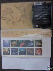 THE SEA LIFE LTD EDITION FDC 10 STAMP PACK MINT COND