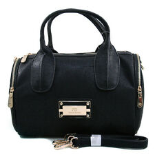New Women Handbag Faux Leather Satchel Tote Bag Shoulder Bag Medium Purse Black