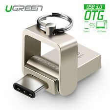 UGREEN 2 in 1 USB3.0 OTG Type C Flash Drive Swivel Memory Stick Pen 16G Storage