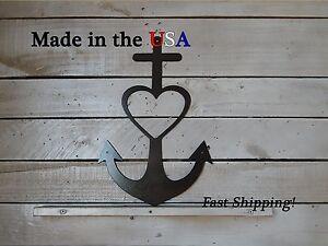 Faith-Hope-Love Metal Sign, Metal Art, Home Sign, Outdoor Wall Art, Heart, S1158