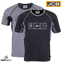 JCB Trade Heavyweight Mens Short Sleeve T-Shirt Work Tee Crew Neck Tee Shirt