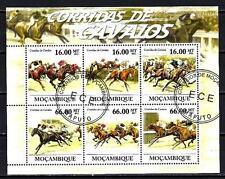 Chevaux Mozambique (48) série complète de 6 timbres oblitérés