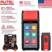 Autel BT608 Battery Electrical System Auto Diagnostic Scan Tool OBD2 Code Reader