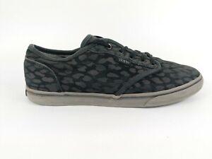 Vans Black Leather Animal Print Trainers Uk 3.5