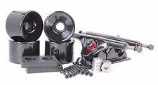 76mm 78a Black Longboard Wheels and Black  Reverse Kingpin Truck Combo Set