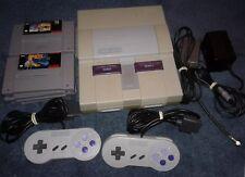 Super Nintendo SNES System Bundle Controllers 6 Games - Star Fox Star Wars Chess