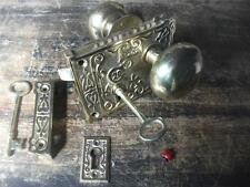 Fancy ORNATE OTTONE RIM LOCK & Manopola Set Victorian Style Bathroom latch