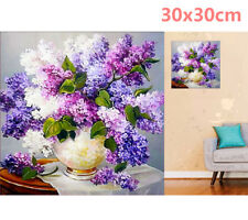 Lavender Flowers Vase 5D Diamond Painting Embroidery Cross Stitch Kit Home Decor