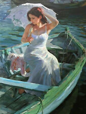 Boat Girl Full drill Diamond Painting Home Decor Cross Stitch Embroidery E7648