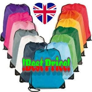 Waterproof Drawstring Book Bag Sport Gym Swim PE Dance Girls Boys Sports Ballet