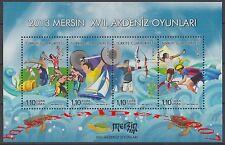 TURKEY 2013, 2013 MERSIN 17TH MEDITERRANEAN GAMES ( SPORT , ANIMAL ) MNH