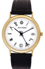Gents Gold Finish Wristwatch Calendar with Masonic Symbols - Luxury Gift Box