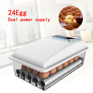 Farm Hatchery Machine 24 Egg Hatchers Chicken Automatic Turning Egg Incubator