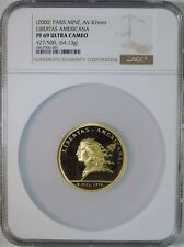 2000 Paris Mint Libertas Americana Gold Medal 47mm 64.13g NGC PF69 Ultra Cameo