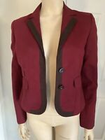 BCBG MAX AZRIA Collection Blazer Jacket Ruby Red New With Tags Women's Size XXS