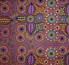 Spirit Place Burgundy Aboriginal Australian Quilting Fabric 1/2 metre
