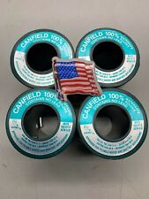 4 - 1 Lb. Rolls Canfield Lead Free Solder *New* Usa*