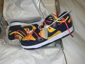 Nike X Off-White Dunk Low Michigan CT0856-700 Size 8.5 DS