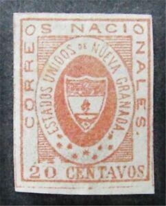 nystamps Colombia Stamp # 17 Mint OG H $500 F26y360
