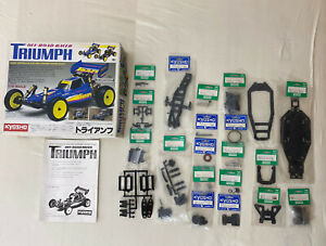Kyosho Triumph Buggy No. 4301 2WD 1/10 Vintage Neuteile 67% complete kit all new