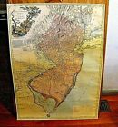 1778 Faden Map Province of New Jersey Divided in East West 31' x 23'Bicentennial