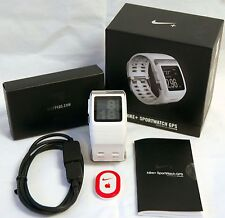 Nike+ Plus Foot Sensor Pod Gps Sport Watch White/Silver TomTom fitness runner -B