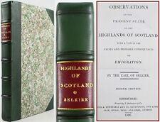 1806*SELKIRK'S OBSERVATIONS ON THE STATE OF SCOTTISH HIGHLANDS*EMIGRATION*CANADA