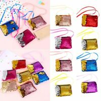 Bag Mermaid Sequins Wallet Earphone Package Women Kids Handbag Coin Purse