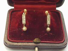 Ancienne Jolie Paire de Boucles D'oreille Dormeuse - Old Earrings
