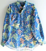 Polo Ralph Lauren Big & Tall Mens 2XLT Blue Tropical Button-Front Shirt NWT 2XLT