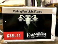 Casablanca Ceiling Fan Light Fixture Snow White Finish K33L-11
