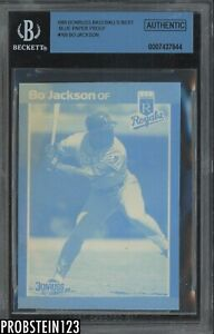 1989 Donruss Baseball's Best Blue Paper Proof #169 Bo Jackson Royals BGS