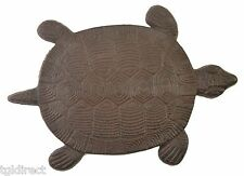 Turtle Stepping Stone Decorative Brown Cast Iron Yard Garden Turtles Flagstone