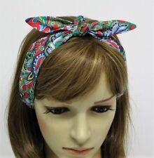 Diadema, tie up bufanda de pelo, cabello Corbata, Pin Up Diadema, Para Mujer Pañuelo