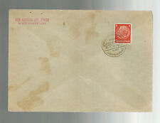 1940 Germany Litzmannstadt Ghetto Cover Aelteste der Juden Cancel and Return