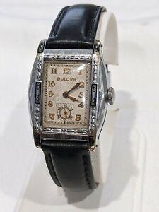 1931 Bulova Unknown Enameled Fancy Case. 21 jewel 10AN. Rare find Project Watch.