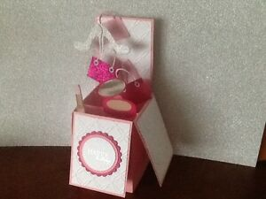 Handmade card Happy Birthday/ Personalised - Girly theme pop up design
