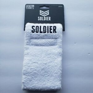 Soldier Sports White Football Quarterback Towel Sweat Wicking Ultra Absorbent