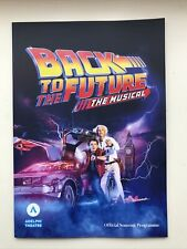 More details for back to the future musical large programme /  brochure adelphi theatre london