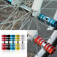 A Pair Bike Bicycle Cycling Cylinder Wheel Alloy Stunt Foot Pegs Column Axles