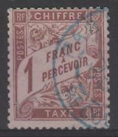 """FRANCE STAMP TIMBRE TAXE N° 25 """" TYPE DUVAL 1F MARRON """" OBLITERE TB SIGNE  N172"""