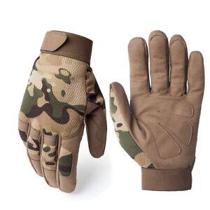 Multicam Tactical Gloves Antiskid Army Military Camo Full Finger Gloves Men