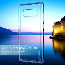 NOTE 8 CRYSTAL CLEAR CASE - Slim Hybrid Armor Hard Back NON YELLOWING  Flexible